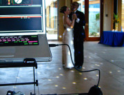 Awesome first dance shot with my turntables