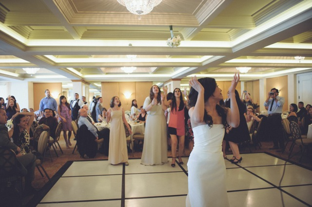 Bouquet Toss - La Valencia Wedding