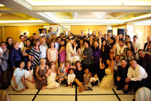 La Valencia Hotel Wedding Group Shot - San Diego Wedding DJ
