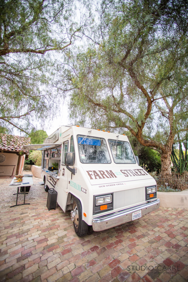 Gourmet food truck | rancho buena vista adobe wedding