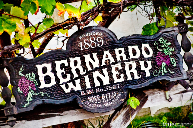Bernardo Winery Wedding Sign