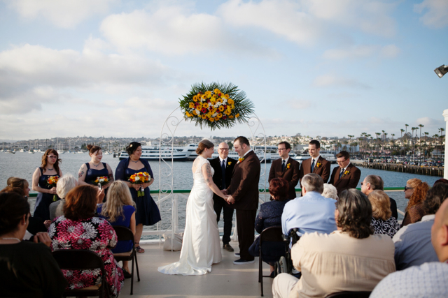 San diego boat wedding
